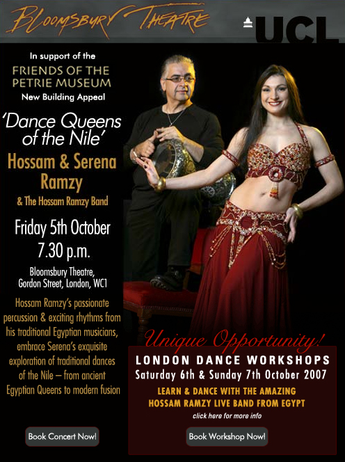 Hossam & Serena Ramzy presents: 'Dance Queens of the Nile' and Bellydance workshops image