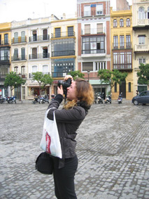 Karlyn taking photos in Seville's city centre image
